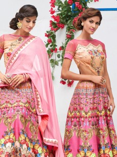 Admirable Look Silk Pink Colour Designer Suit