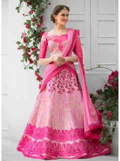 Adorning Look Silk Printed Party Wear Lehenga Choli