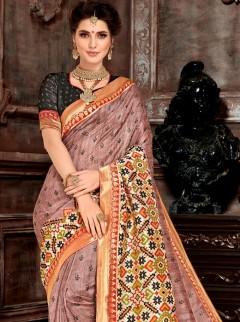 Alluring Bhagalpuri Silk Print Saree