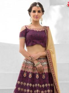 Alluring Look Silk Printed Designer Lehenga Choli