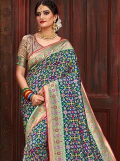 Alluring Weaving Print Designer Saree