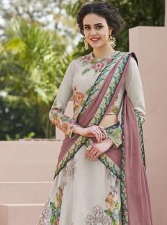 Amazing Look Satin Silk Designer Lehenga Choli