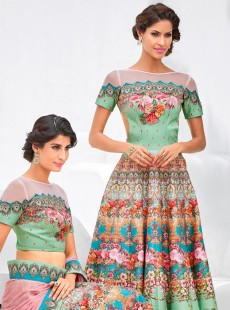Appealing Look Silk Party Wear Designer Suit