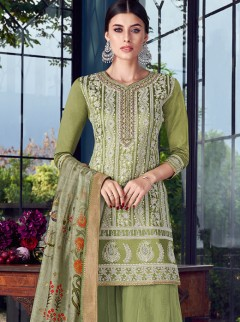 Appealing Net And Georgette Designer Suit