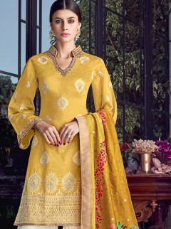 Astounding Silk Fabric Fancy Designer Suit