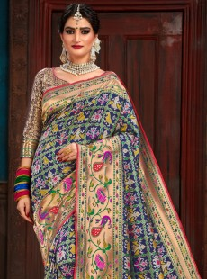 Awesome Blue Colour Patora Silk Saree