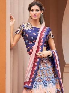 Awesome Look Silk Printed Designer Lehenga Choli