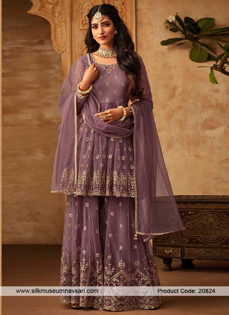 Beautiful Embroidery Designer Net Garara