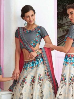Beautiful For Weaving Print Lehenga Choli