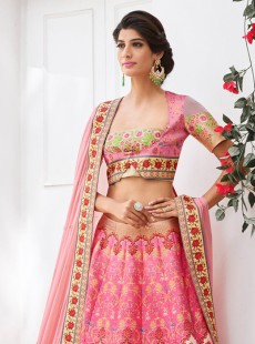 Beautiful Look Silk Printed Designer Lehenga Choli
