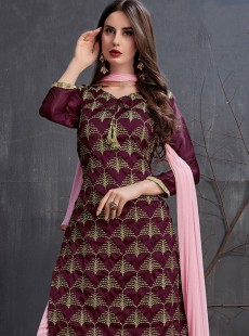 Beautiful Purple Color Gharara Suit