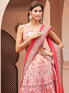 Captivative Look Silk Designer Lehenga Choli