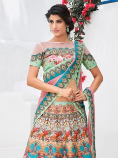 Ravishing Look Silk Printed Designer Lehenga Choli