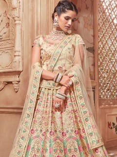 Charming Resham Embroidery Wedding Designer Lehenga