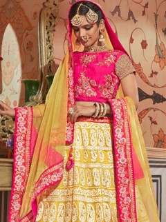 Classical Rani Magenta Colour Designer Lehenga
