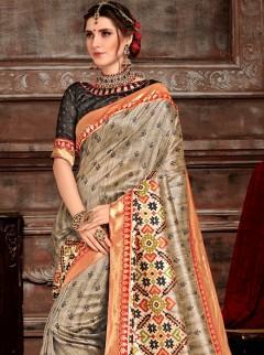 Classy Bhagalpuri Silk Patora Saree