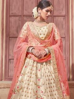 Classy Light Gold Colour Silk Designer Lehenga