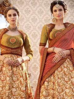 Dazzling Look Banarasi Silk Designer Lehenga Choli