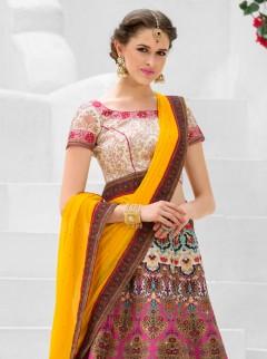 Delightful Look Silk Printed Designer Lehenga Choli