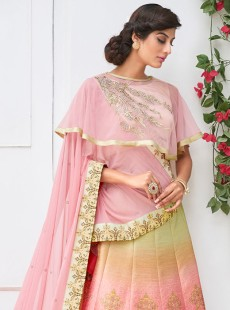 Elegant Look Silk Shaded Designer Lehenga Choli