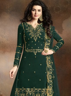 Elite Dark Green Colour Festival Suit