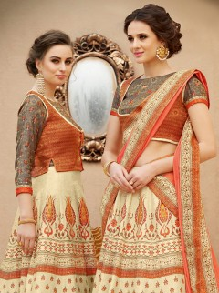 Exclusive Look Banarasi Silk Designer Lehenga Choli