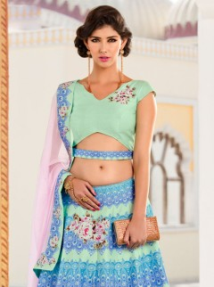Fantastic Look Silk Printed Casual Wear Lehenga Choli