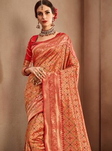 Fashionable Pure Silk Designer Saree