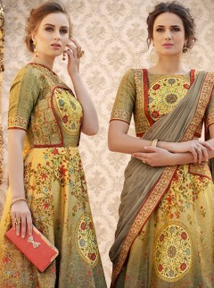 Glamorous Look Banarasi Silk Designer Lehenga Choli