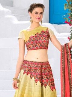 Glamorous Look Silk Printed Designer Lehenga Choli