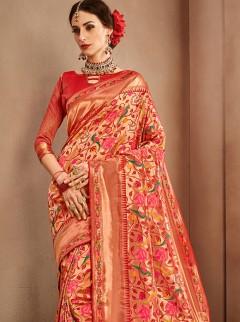 Glamorous Weaving Silk Designer Saree