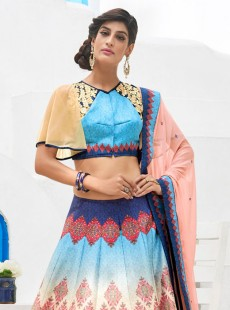 Graceful Look Silk Designer Printed Lehenga Choli