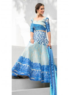 Graceful Look Silk Printed Party Wear Lehenga Choli