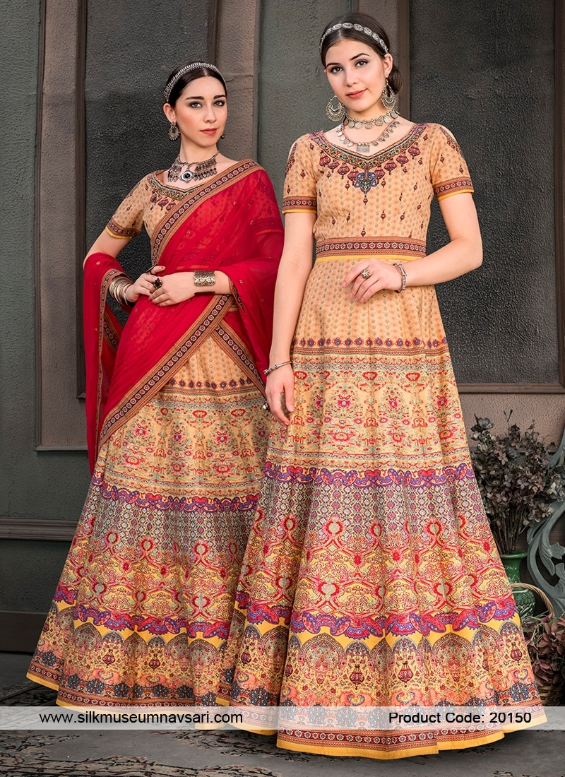 Lovely Cream Colour Designer Lehenga Choli