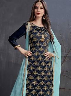 Lovely Cut Dana Work Designer Gharara Suit