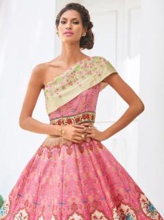 Luxurious Look Silk Party Wear Designer Suit