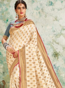 Magnificent Resham Work Pallu Designer Saree