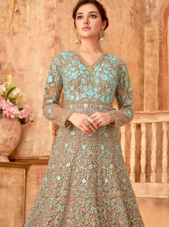 Opulent Net Designer Gown