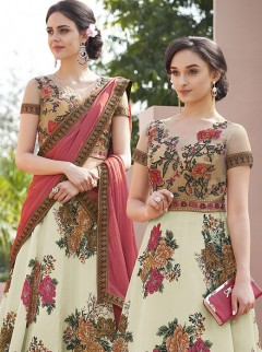 Outstanding Look Satin Silk Designer Lehenga Choli