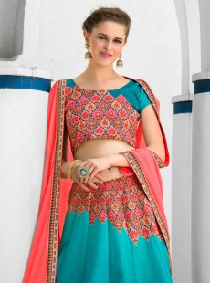 Outstanding Look Silk Printed Designer Lehenga Choli