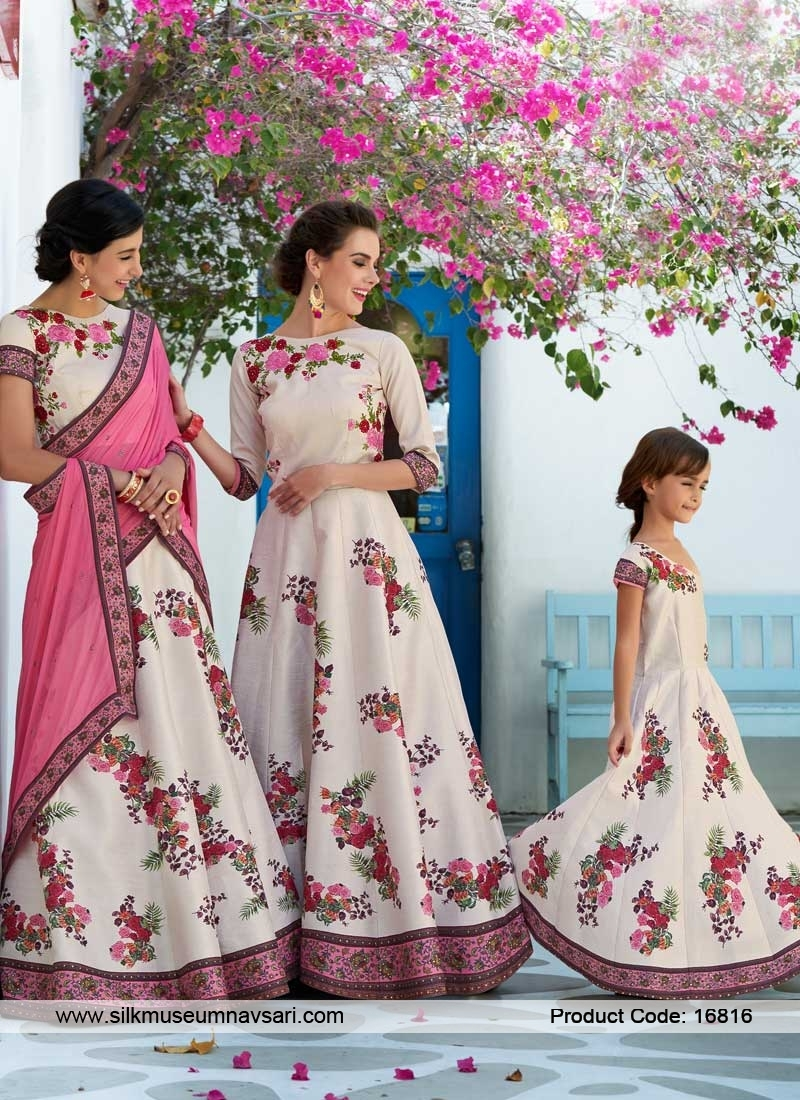 Pristine Off White And Pink Lehenga Choli