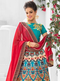 Rapturous Look Silk Printed Party Wear Lehenga Choli