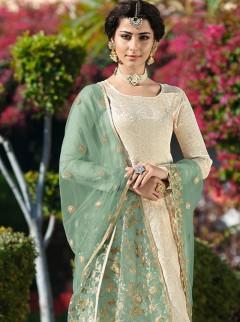 Ravishing Lakhnavi Work Designer Suit