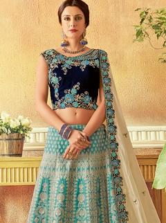 Snazzy Embroidery Designer Lehenga Choli