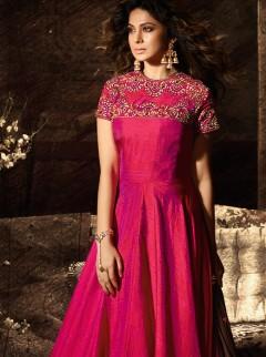 Spectacular Banarasi Rich Two Tone Silk Suit