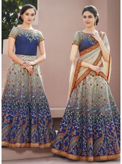 Spectacular Look Satin Silk Designer Lehenga Choli