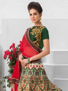 Spectacular Look Silk Printed Party Wear Lehenga Choli