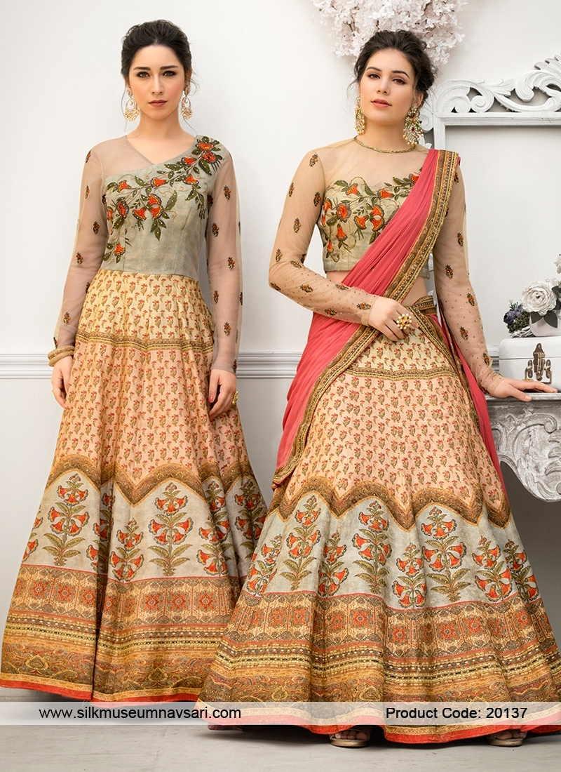 Spectacular Multi Colour Embroidery Lehenga Choli
