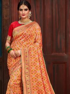 Spectacular Patora Silk Designer Saree