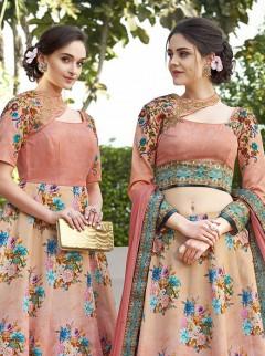 Stunning Look Satin Silk Designer Lehenga Choli